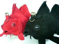 ベロア革の金魚バッグ(大)