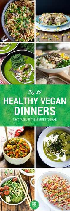 20 Healthy Vegan Dinners That Take Just 15 Minutes to Make   WIN-WINFOOD.com #healthy #vegan