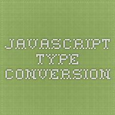 Javascript Type-Conversion
