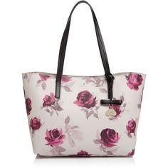 kate spade new york Hawthorne Lane Roses Ryan Tote ($210) ❤ liked on Polyvore featuring bags, handbags, tote bags, plum dawn multi, kate spade tote bags, shopper tote handbags, handbags totes, shopping tote bags and white tote purse