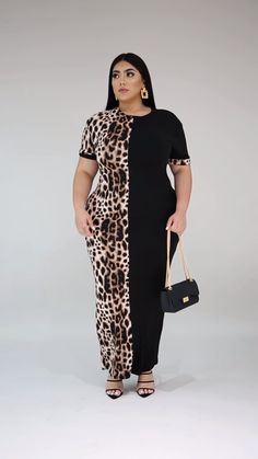 This is a dress is of rare and distinctive character, which you will love. Casual style, but appropriate for any event. One of the best kept secrets out. Discount Diva Styles by Truly Amazing Fashions Curvy Girl Outfits, Curvy Women Fashion, Plus Size Fashion, Fat Fashion, Plus Size Gowns, Plus Size Outfits, Latest African Fashion Dresses, Korean Fashion, Girls Maxi Dresses