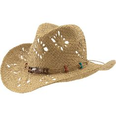 ONLINE - Women s Straw Beaded Cowboy Hat - Walmart.com c4a84c22b16