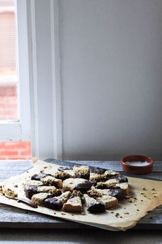 Rosewater Chocolate Pistachio Shortbread Cookies