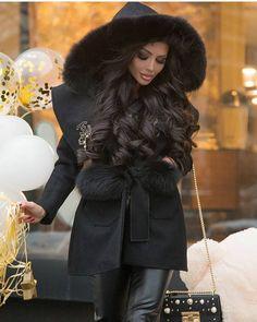 "@glamor_world_of_street on Instagram: ""❤ @penelope7878 @women_style_blog @fashionstyle_streetstyle @billionwomanofficial #black #hairbeauty #winter #streetstyle #streetfashion…"""