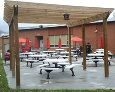 Students learn in an outdoor classroom at Cave Spring High School in Roanoke, VA.