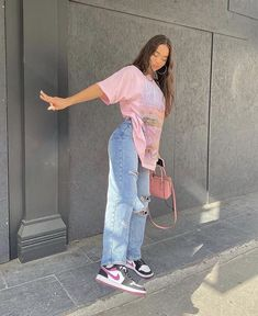 Indie Outfits, Edgy Outfits, Teen Fashion Outfits, Retro Outfits, Cute Casual Outfits, Outfits With Jordans, Hipster Girl Outfits, Vintage Outfits, Moda Streetwear