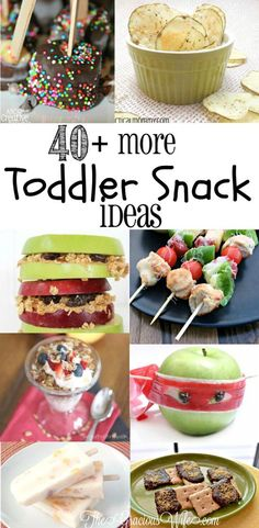 OVER 40 Snack Ideas for Kids! These easy and healthy snacks are fun and great for after school or on the go! From TheGraciousWife.com