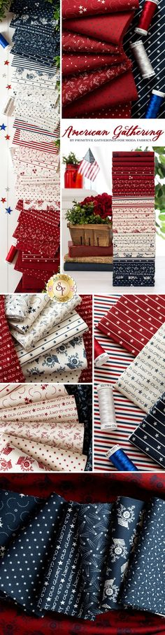 American Gathering is a unique patriotic collection by Primitive Gatherings for Moda Fabrics available at Shabby Fabrics! Primitive Gatherings, Shabby Fabrics, Quilting Projects, Fabric Design, Cotton Fabric, Heaven, Designers, Yard, Inspire