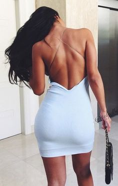 Sexy tight halter dress cross chain dress · fe clothing · online store powered by storenvy