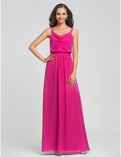 ff81fb6e98f Sheath Column Straps Floor-length Chiffon Bridesmaid Dress Cheap Bridesmaid  Dresses Online