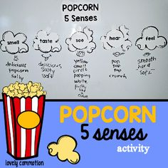 Teach children about the 5 senses with this fun popcorn activity and printable.