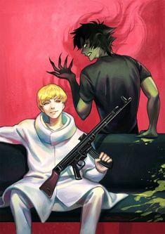Ryo Asuka e Akira Fudo / Devilman Crybaby Devilman Crybaby, Manga Anime, Anime Art, Me Me Me Anime, Anime Guys, Akira, Otaku, Crying Man, Another Anime