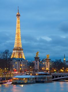 Pont Alexandre III and Eiffel Tower, Paris. Île-de-France, France | by Ed.Moskalenko