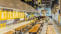 Kitchen Loft is a new dining concept from NTUC Foodfare, a food court set in a modern designed space offering contemporary cuisine and an evening bar.