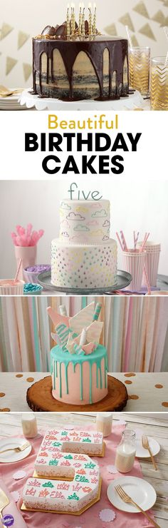 What's a birthday celebration without a cake? From simple to fancy designs, click to find inspiration and ideas to make the perfect birthday cake!