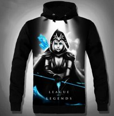 3D Ashe hoodie LOL League of Legends hooded sweatshirts for boys