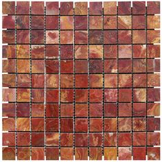 MS International Red 12 in. x 12 in. x 10 mm Polished Onyx Mesh-Mounted Mosaic Tile (10 sq. ft. / case)