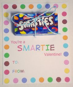 Freebies | You're a Smartie Valentine!  oh no - dont show my husband that these european m really exist!!!