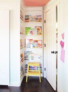 Cramped Corner Turned Book Storage | Cape27Blog.com