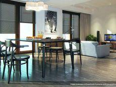 DOM.PL™ - Projekt domu MT Ambrozja 2 CE - DOM ST9-25 - gotowy koszt budowy Cottage Plan, Dom, Divider, Table, Furniture, Home Decor, Home Plans, Decoration Home, Room Decor