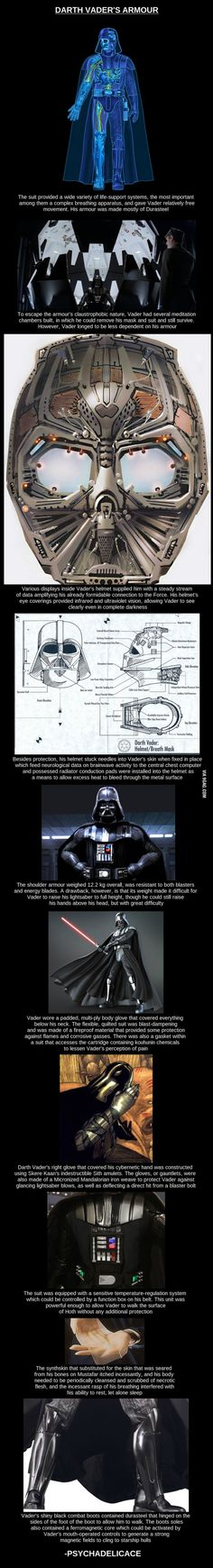 this is so detailed!!!!  I felt bad that vader couldn't sleep, and that he has fake skin.