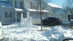 Snow Sculpture Says 'I Love You' In American Sign Language