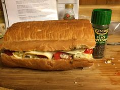 Pan Bagnat {A hearty sandwich that's fun to make} National Sandwich Day, Pan Bagnat, Vegetable Seasoning, Cook At Home, Hot Dog Buns, Sandwiches, Easy Meals, Vegetables, Cooking