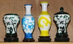 Four Chinese Peking Glass Vases : Lot 4130