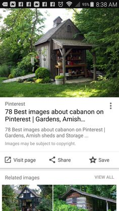 Amish Sheds, Pinterest Garden, Building Ideas, House Styles, Plants, Home Decor, Shed, Decoration Home, Room Decor
