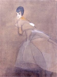 The Fleeing Countess - Helene Schjerfbeck - The Athenaeum Moomin Books, Helene Schjerfbeck, Art Eras, Tove Jansson, Portrait Illustration, Artist Painting, Art Images, Fine Art, Scandinavian Modern
