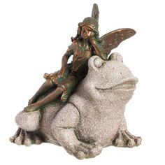 Fairy with Frog Statue