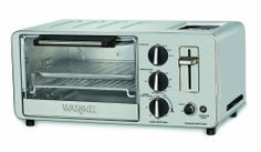 Waring WTO150 4-Slice Toaster Oven with Built-In 2-Slice Toaster NEW Free Ship #Slice