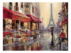 April in Paris Giclee Print by Brent Heighton at Art.com