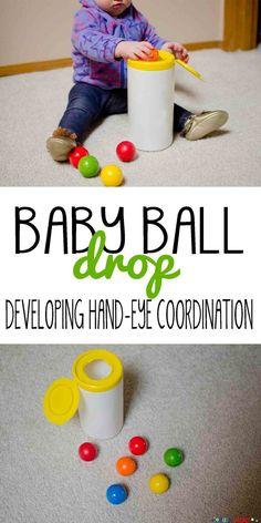 Baby Ball Drop: a simple DIY play activity