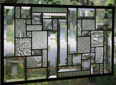 Clearly Art 4 Stained Glass Window Panel