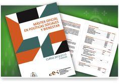 Díptico para la Universidad de Oviedo, Facultad de Sociología, con motivo del Master Oficial en Políticas Sociales y Bienestar (Curso 2012 - 2013).