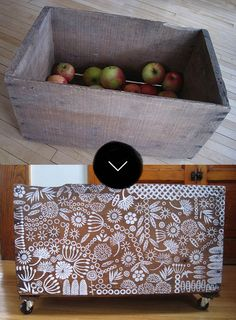 Stamped Apple Crate