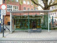 Love the idea of a public bookshelf.