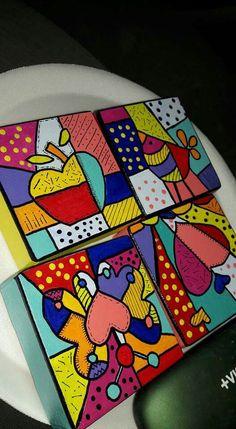 Cuadros para decorar divinos Drawing For Kids, Art For Kids, Motif Art Deco, Mexican Crafts, Bottle Cap Art, Country Art, Art Lessons, Picture Frames, Pop Art