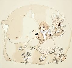 Маленькая принцесса с котиком~❤