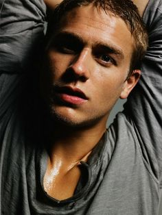 Charlie Hunnam - charlie-hunnam Photo......christian grey? that could work actually..never thought he looked like this without facial hair and biker outfits.