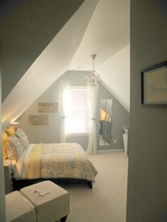 Bedroom Photos Attic Renovation Ideas Design Ideas, Pictures, Remodel, and Decor - page 49