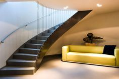 Handmade curved stairs