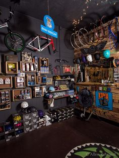 Path Bicycle and Ride Shop – Photography by Allen Rowand Bicycle Cafe, Bicycle Garage, Bicycle Store, Motorcycle Garage, Boutique Interior, Shop Interior Design, Store Design, Ski Shop, Garage Organization