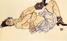 Un desnudo reclinado de Schiele