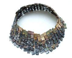 Francesca Urciuoli - Shield necklace, shibuichi