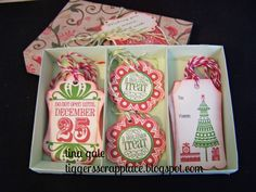 My Scrappy Ideas: CTMH SOTM Verry Merry Christmas Blog Hop - tons of tags #Artiste