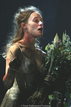 Mariah Gale as Ophelia, RSC.