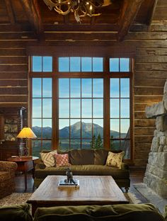 Moonlight Basin Ranch - Big Sky, Montana by Miller Architects Moonlight Basin, Rustic French Country, Rustic Cottage, Country Style, Rustic Entryway, Mountain Homes, Mountain Style, Mountain Cabins, Mountain View
