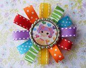 Lalaloopsy Rainbow Bottlecap Hair bow